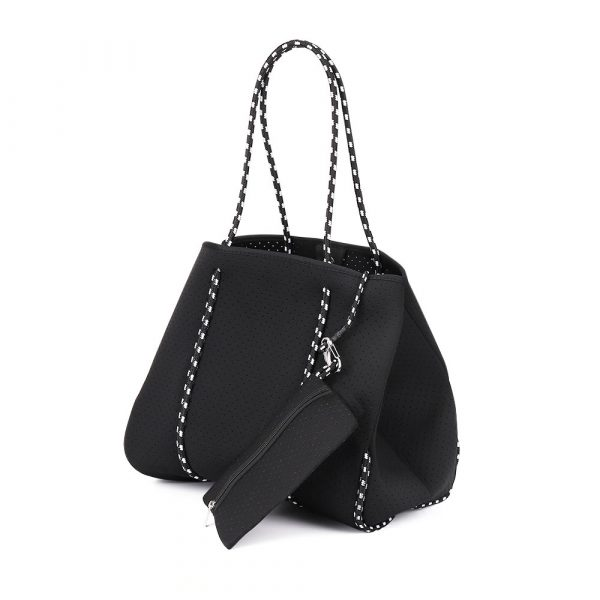 neoprene tote bag with pouch
